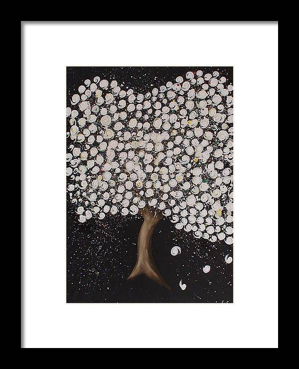 Abstract Framed Print featuring the painting Wedding Tree by Maia Oliver