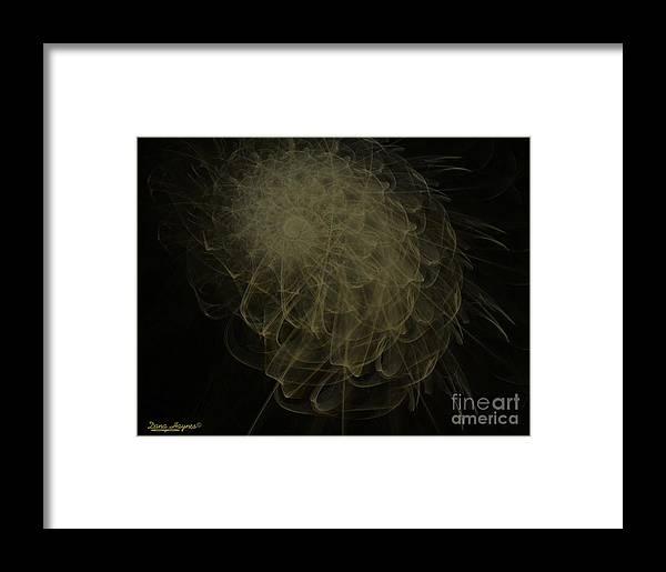 2-dimensional Framed Print featuring the digital art Weeds N Thorns by Dana Haynes