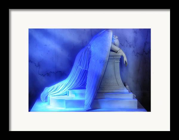 New Orleans Framed Print featuring the photograph Weeping Angel by Don Lovett
