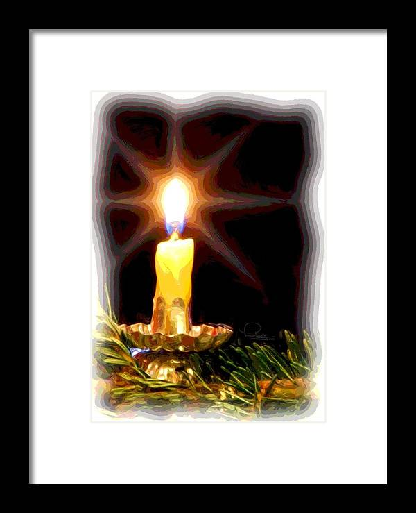 Christmas Framed Print featuring the photograph Weihnachtskerze - Christmas Candle by Ludwig Keck