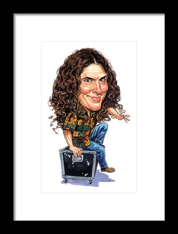 Weird Al Yankovic Framed Print featuring the painting Weird Al Yankovic by Art
