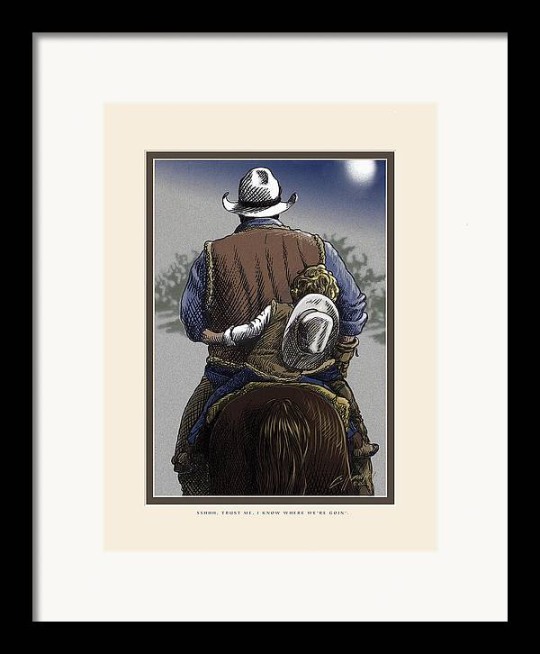 Inspirational Framed Print featuring the painting Wejesgotstatrust by Cliff Hawley