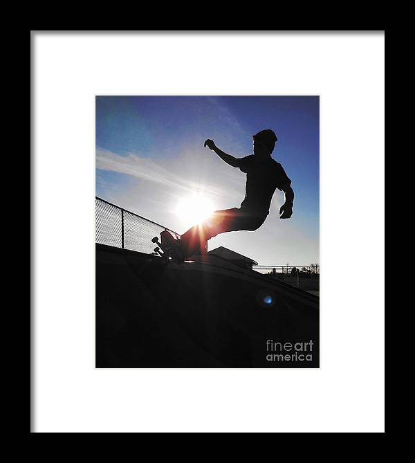 Skateboarding Framed Print featuring the photograph Welcome by John Velasquez