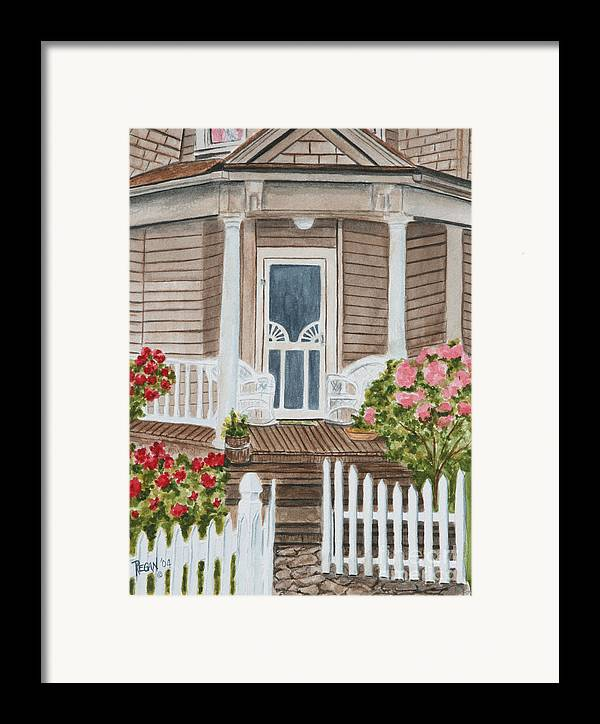 Architecture Framed Print featuring the painting Welcome by Regan J Smith