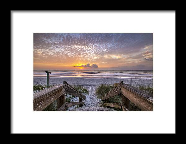 Sunrise Framed Print featuring the photograph Welcome To Salt Life by Razvan Balotescu