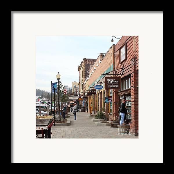 Tahoe Framed Print featuring the photograph Welcome To Truckee California 5d27445 Square by Wingsdomain Art and Photography