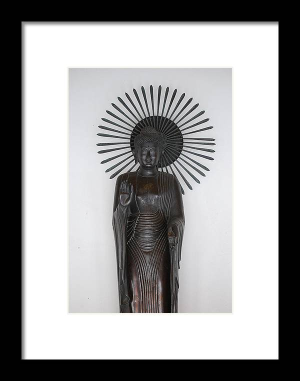 Buddha Framed Print featuring the photograph Welcome by Vince McCall