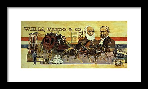 Wells Fargo Framed Print featuring the painting Spirit Of Wells Fargo Heritage by Michael Hagel