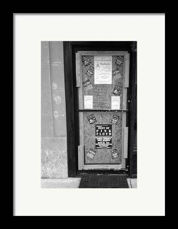 Door Framed Print featuring the photograph We're Still Here by Anna Villarreal Garbis
