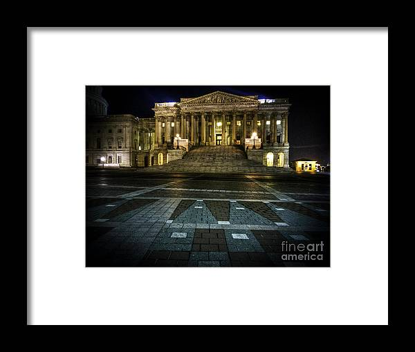 Capitol Framed Print featuring the photograph West Capitol Building by Sam Garvin