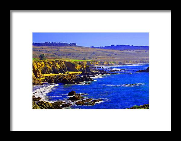 West Coast Framed Print featuring the digital art West Coast Blues by Joseph Wiegand