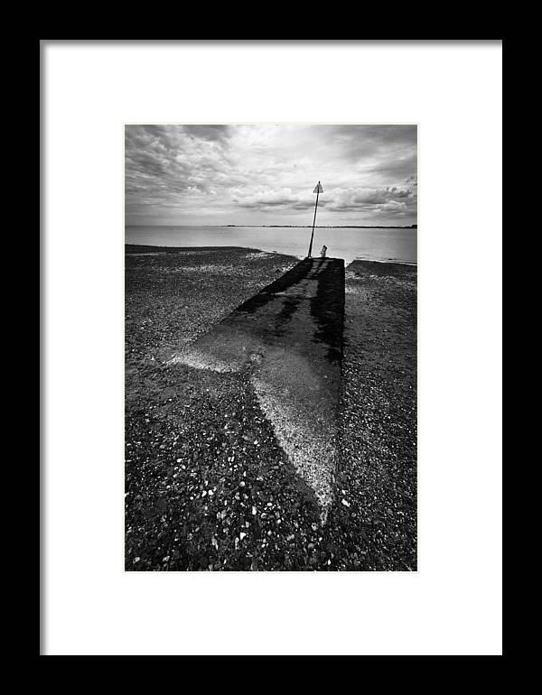 Sea Framed Print featuring the photograph West Mersea Sea View by David Isaacson