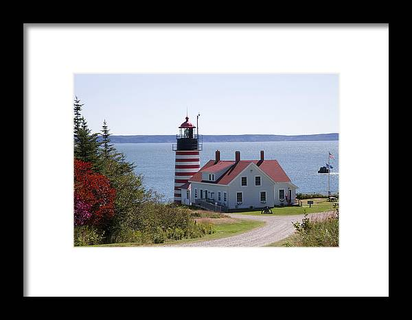 Horizontal Framed Print featuring the photograph West Quoddy Lighthouse by Jim Wallace