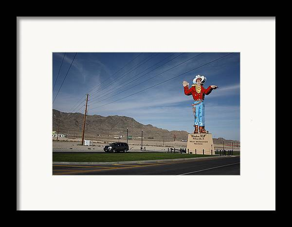 America Framed Print featuring the photograph West Wendover Nevada by Frank Romeo