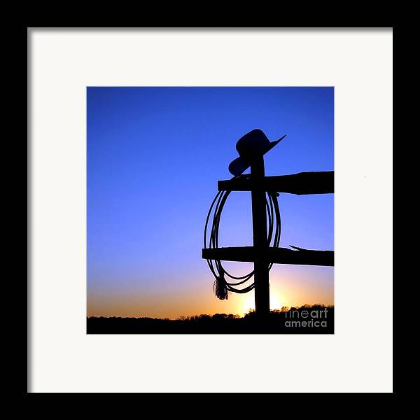 Western Framed Print featuring the photograph Western Sunset by Olivier Le Queinec