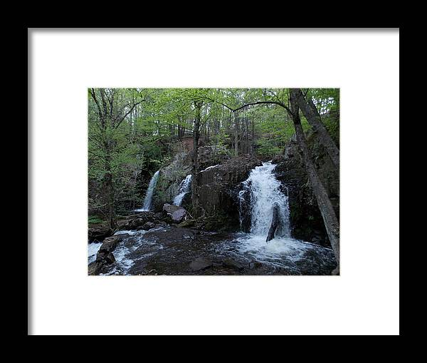 New England Waterfalls Framed Print featuring the photograph Westfield Falls by Catherine Gagne