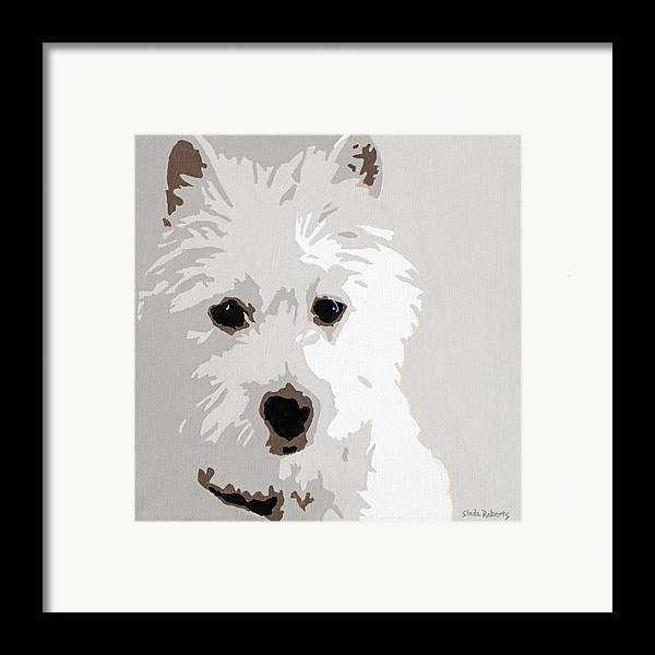 Westie Framed Print featuring the painting Westie by Slade Roberts