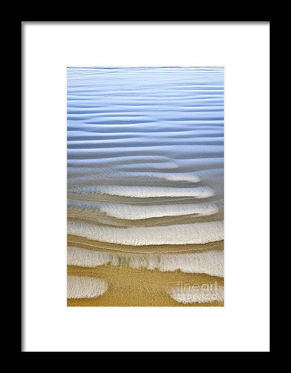 Beach Framed Print featuring the photograph Wet Sand Texture On Ocean Shore by Elena Elisseeva
