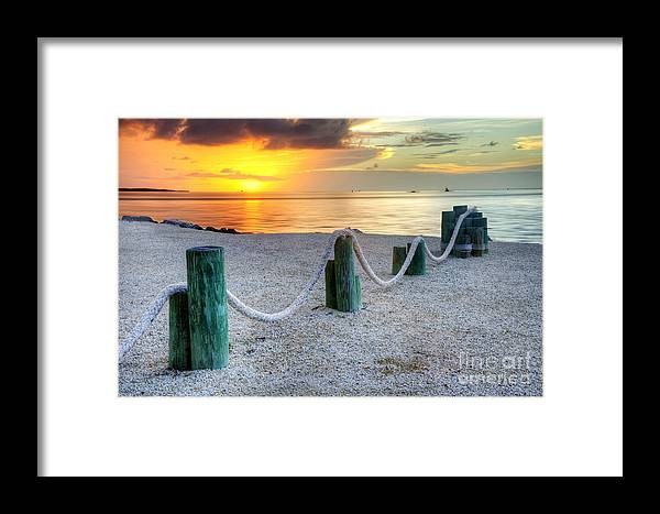 Keys Framed Print featuring the photograph Whale Harbor II by Bruce Bain