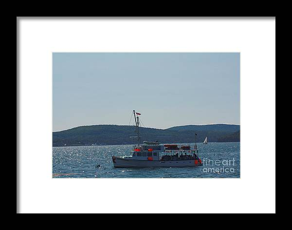 Maine Framed Print featuring the photograph Whale Watching At Bar Harbor by Dora Sofia Caputo Photographic Design and Fine Art