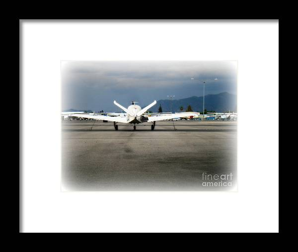 Aviation Framed Print featuring the photograph What fly girl is dreaming about by De La Rosa Concert Photography