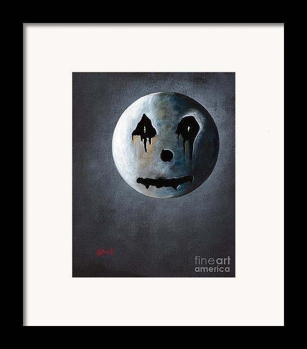 Moon Framed Print featuring the painting What It's Like Without You - Gothic By Shawna Erback by Shawna Erback