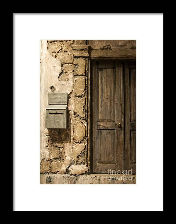 Door Framed Print featuring the photograph What Lies Beyond by Bianca Nadeau