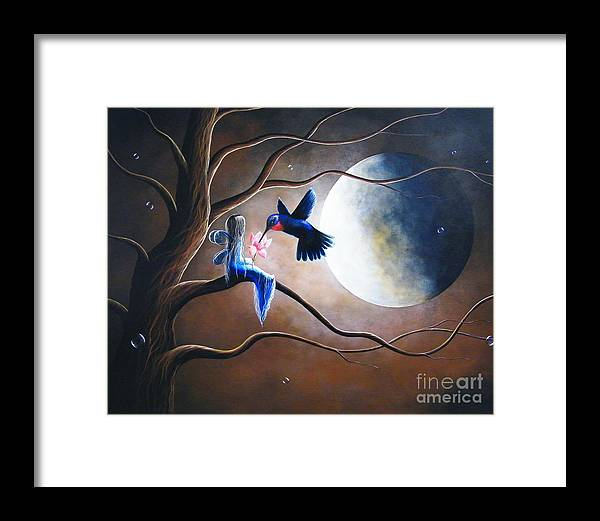 Hummingbird Framed Print featuring the painting What Love Looks Like By Shawna Erback by Erback Art