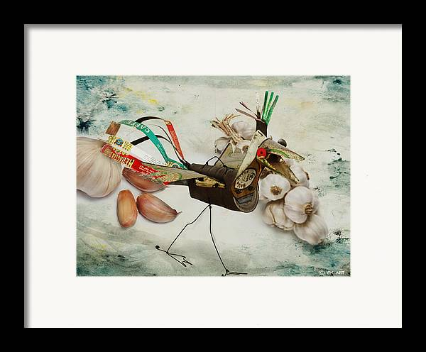 Bird Framed Print featuring the digital art What Nature Delivers - Those Are Not My Eggs by Yvon van der Wijk