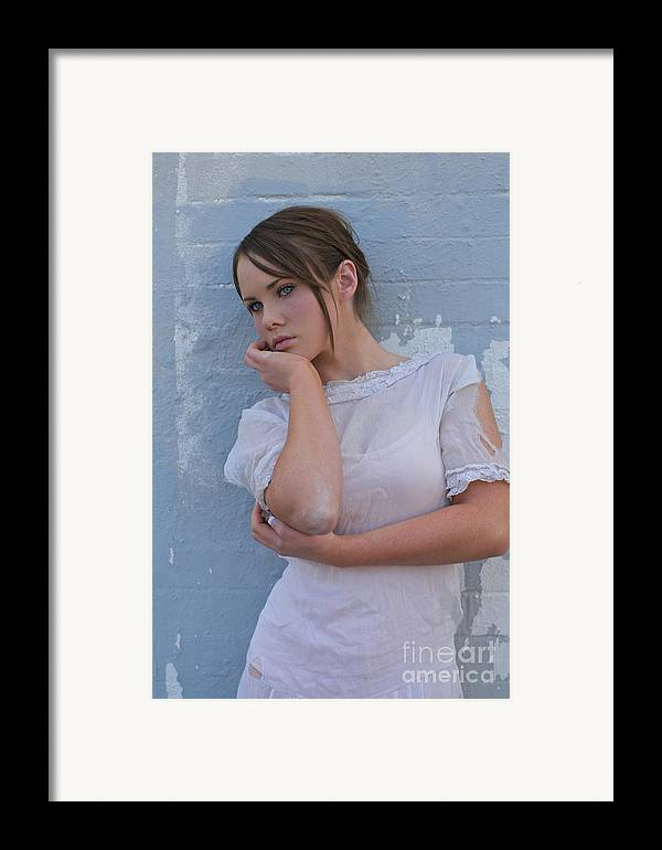 Young Woman Framed Print featuring the photograph What To Do by Sherry Davis