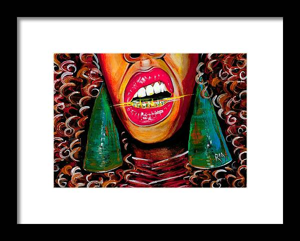 Gold Framed Print featuring the photograph What Yo Name Is by Artist RiA