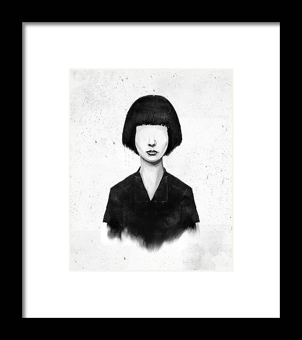 Girl Framed Print featuring the mixed media What You See Is What You Get by Balazs Solti