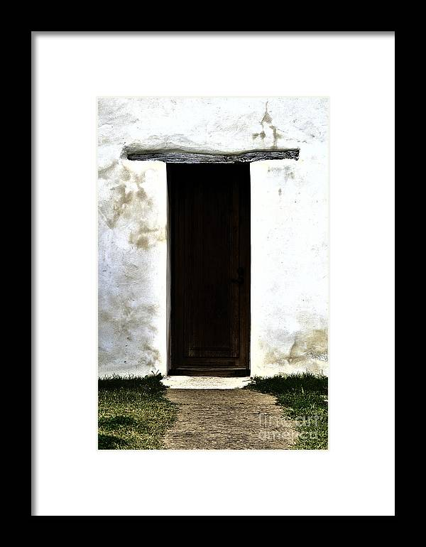 Door Framed Print featuring the photograph What's Inside by Gary Richards