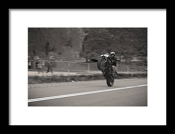 Harriman State Park Framed Print featuring the photograph Wheelie By The Park by D L McDowell-Hiss