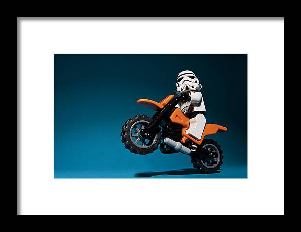 Lego Framed Print featuring the photograph Wheelie by Samuel Whitton