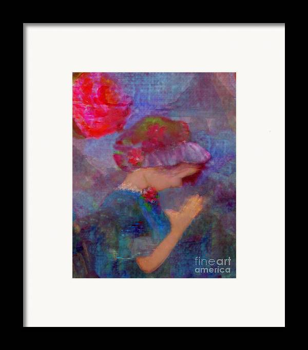 Jesus Christ Framed Print featuring the painting When Emmy Prays by Deborah Montana