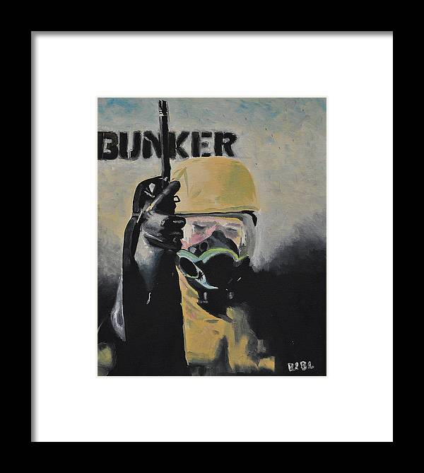 Military Framed Print featuring the painting When by Ruben Barbosa