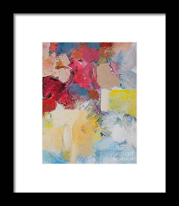Color Framed Print featuring the painting When The Angels Sing by Allan P Friedlander