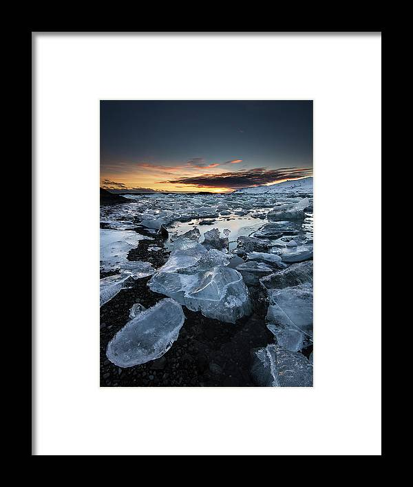 Scenics Framed Print featuring the photograph When The Sun Says ... Goodbye by Cresende