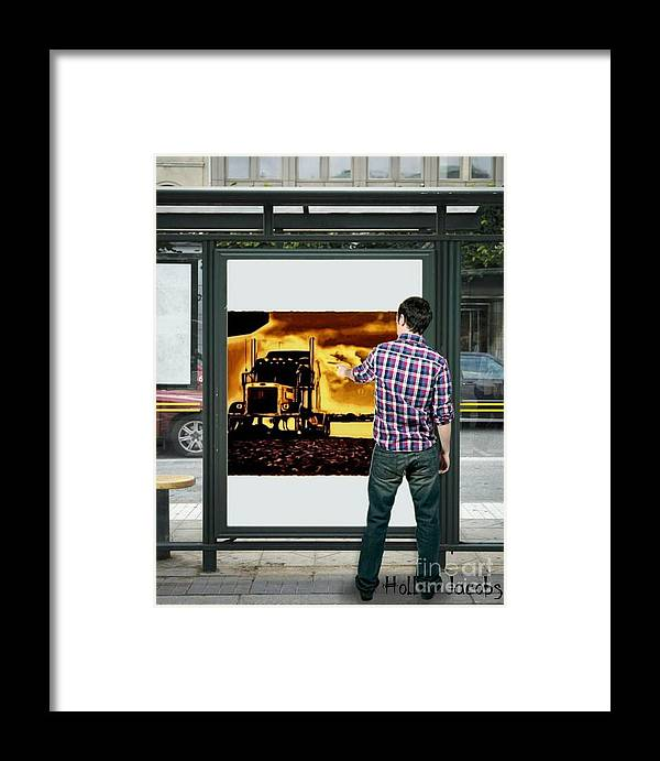 Trucking Framed Print featuring the digital art Where Am I by Holley Jacobs