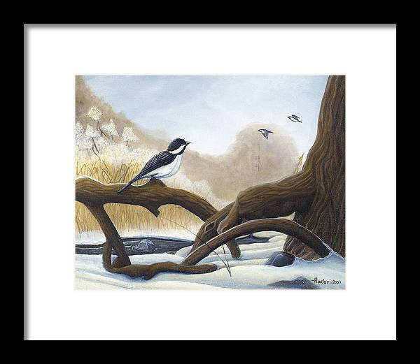 Rick Huotari Framed Print featuring the painting Where Are You Going by Rick Huotari