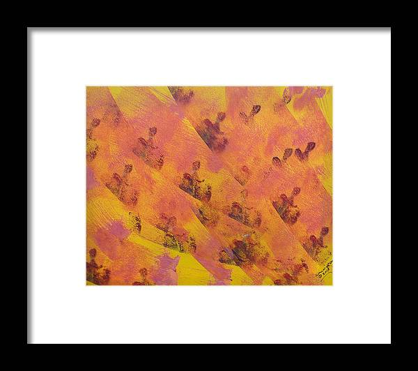 Acrylic Framed Print featuring the painting Where Have All The People Gone by Arlene Wright-Correll