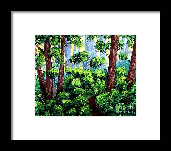 Barbara Griffin Framed Print featuring the painting Where the Path Leads by Barbara Griffin