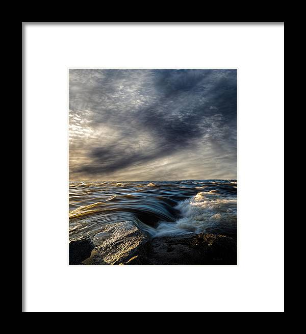 Nature Framed Print featuring the photograph Where The River Kisses The Sea by Bob Orsillo