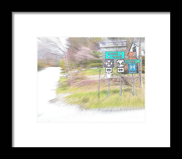 Been There. Time Flew By. Angela Framed Print featuring the digital art Where To by Angelia Hodges Clay