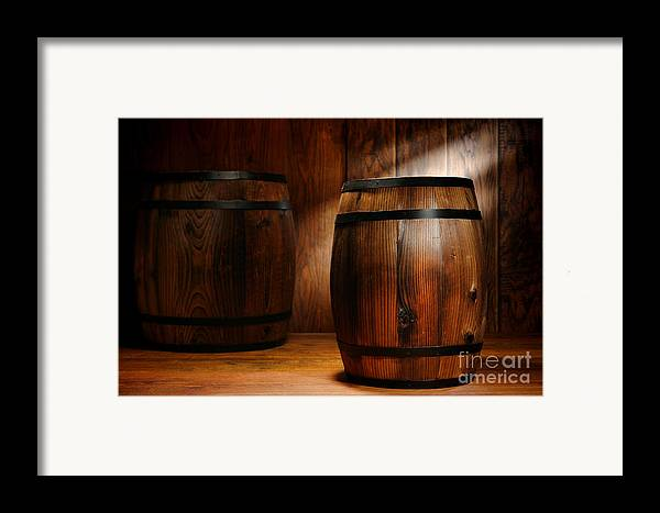 Barrel Framed Print featuring the photograph Whisky Barrel by Olivier Le Queinec