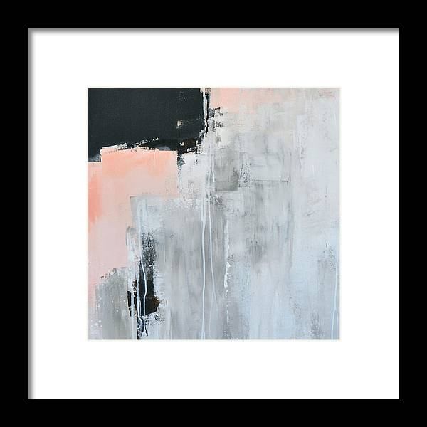 Abstract Painting Print Framed Print featuring the painting Whisper 1 by Charlen Williamson