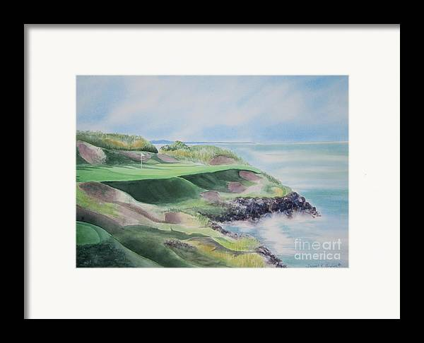 Whistling Straits Framed Print featuring the painting Whistling Straits 7th Hole by Deborah Ronglien