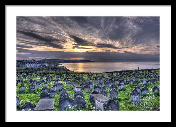 Whitby Framed Print featuring the photograph Whitby Graves by Steev Stamford
