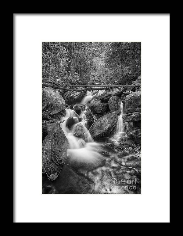 B&w Framed Print featuring the photograph White And Rocky Bw by Mitch Johanson